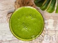 Зелено протеиново смути със спанак, кейл и банан